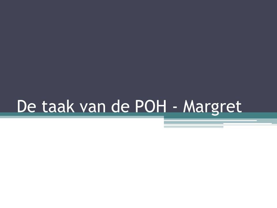De taak van de POH - Margret