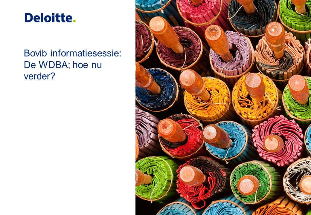 Bovib informatiesessie: De WDBA; hoe nu verder 0