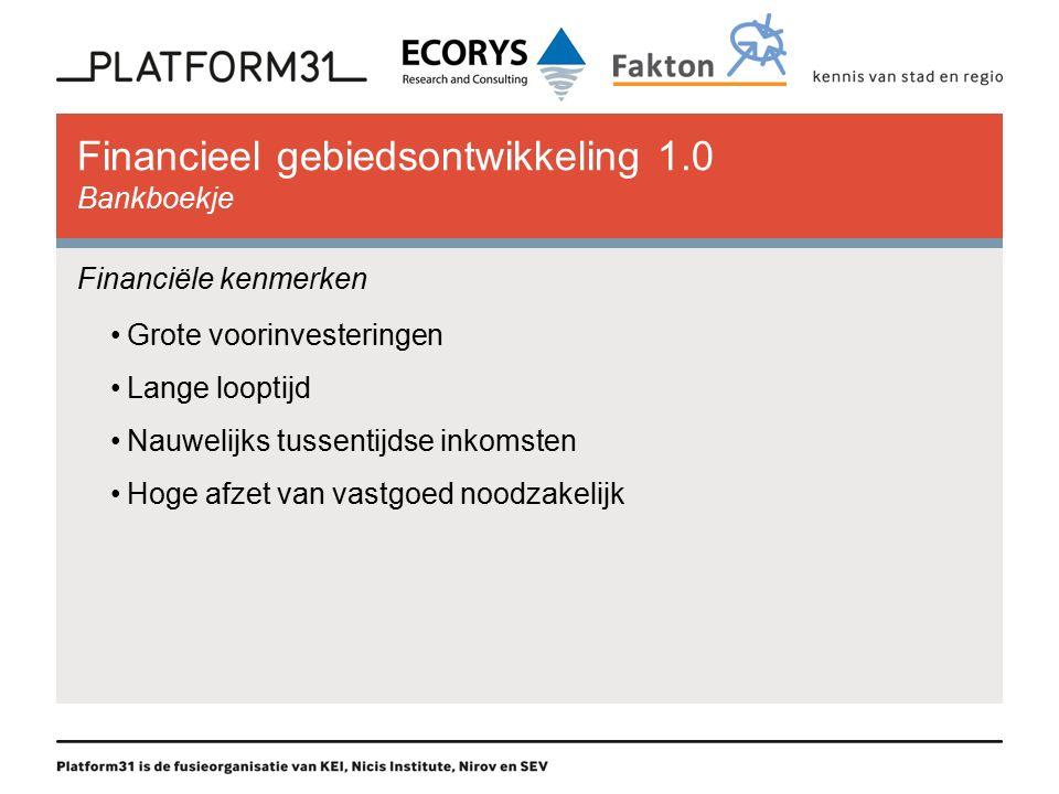Financieel gebiedsontwikkeling 1.0 Bankboekje