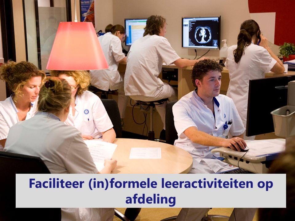 Faciliteer (in)formele leeractiviteiten op afdeling