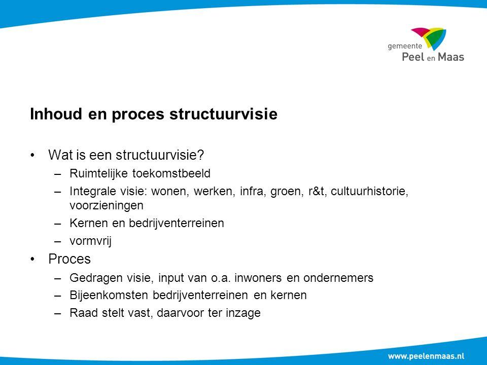 Inhoud en proces structuurvisie Wat is een structuurvisie.
