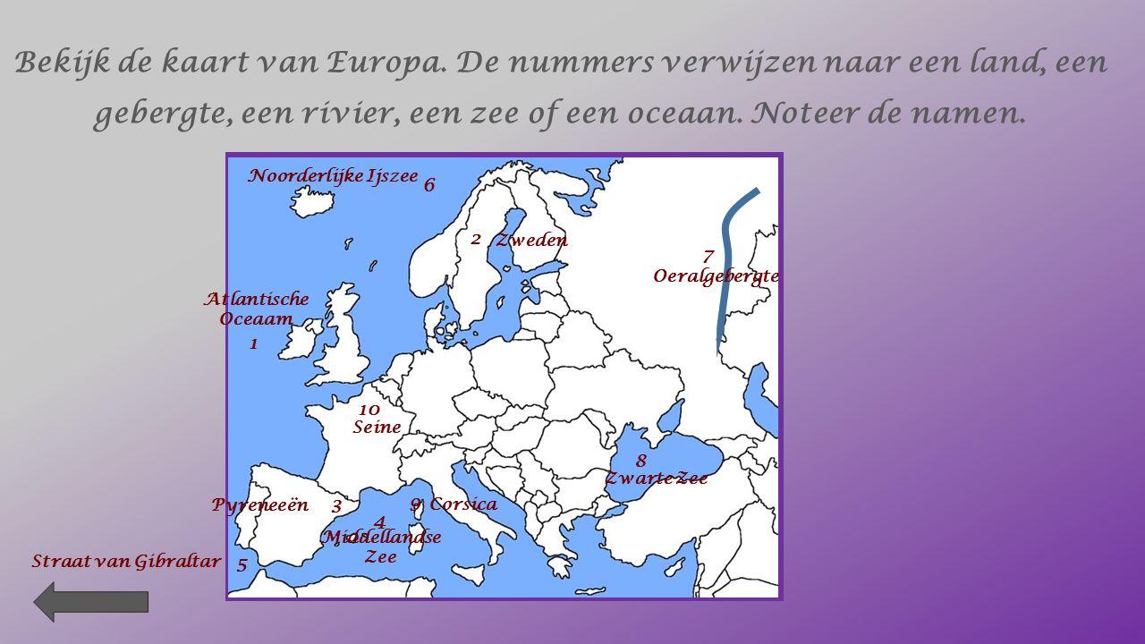 Berken de werkelijke afstand tussen de steden. Gebruik de staatkundige kaart van Europa. Noteer de schaalverdeling : schaal = 1 : 15 000 000 1 cm op d