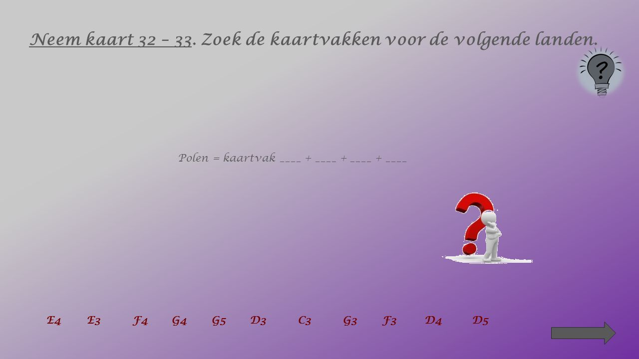 5. In welk kaartvak ligt Brussel grotendeels ? _______ C2C3D2D3