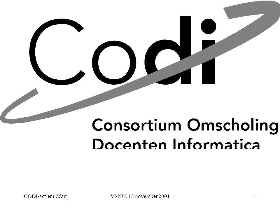 CODI-actiemiddagVSNU, 13 november 20011