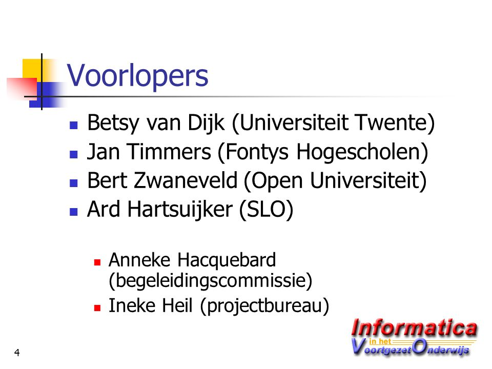 15 Lesmethoden Informatica van Edu'Actief www.edu-actief.nl Fundament Informatica van Instruct www.instruct.nl www.informatica-online.nl Turing van ThiemeMeulenhoff www.thiememeulenhoff.nl