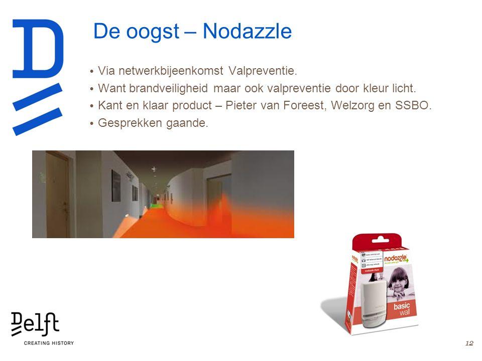 De oogst – Nodazzle Via netwerkbijeenkomst Valpreventie. Want brandveiligheid maar ook valpreventie door kleur licht. Kant en klaar product – Pieter v