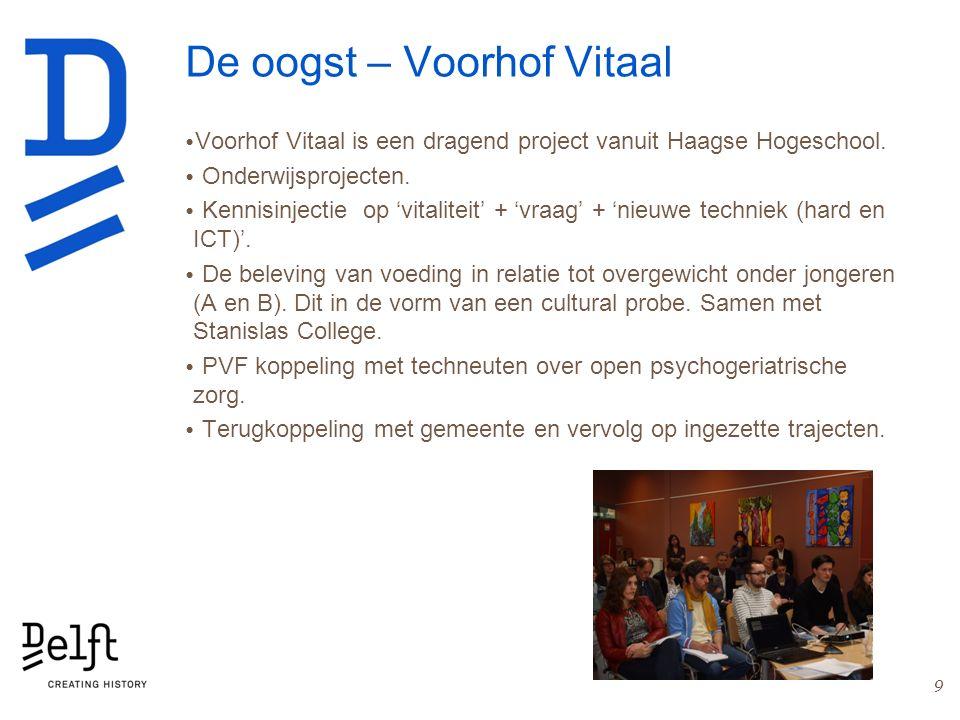 De oogst – Voorhof Vitaal Voorhof Vitaal is een dragend project vanuit Haagse Hogeschool. Onderwijsprojecten. Kennisinjectie op 'vitaliteit' + 'vraag'