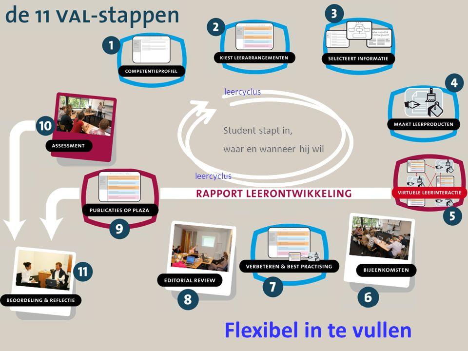 Flexibel in te vullen Student stapt in, waar en wanneer hij wil leercyclus