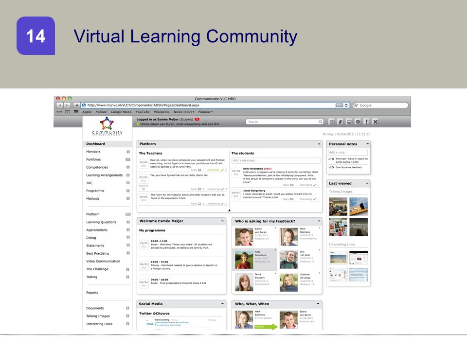 Virtual Learning Community 14