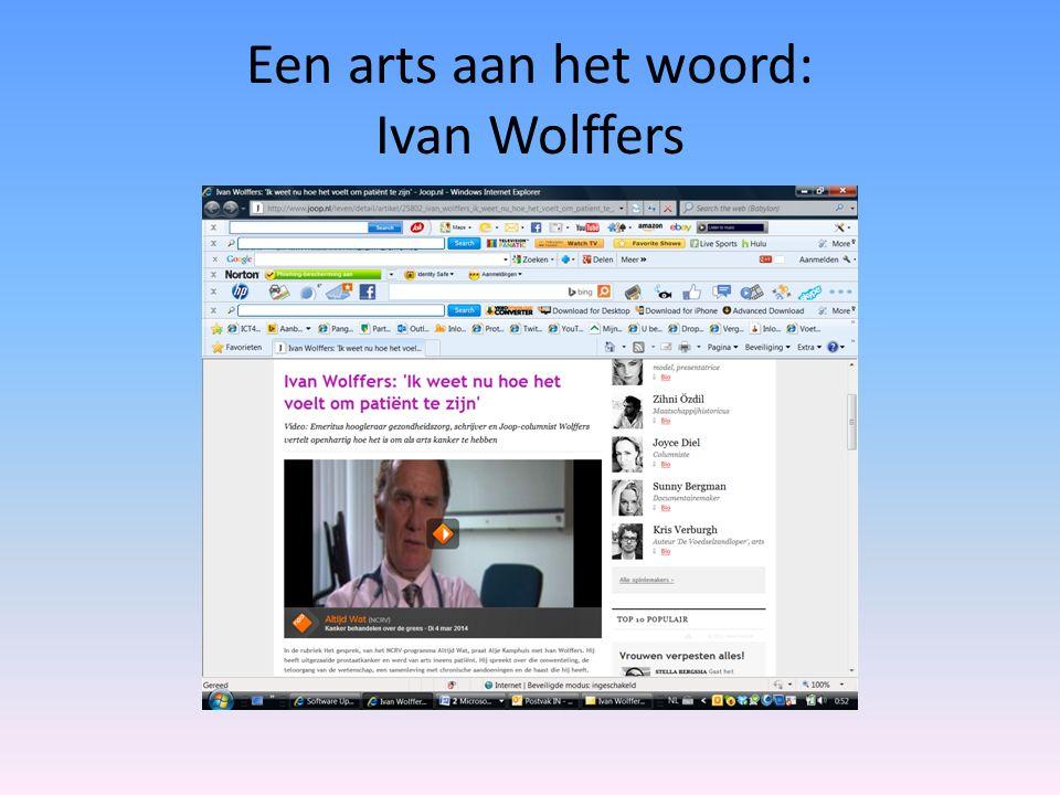 Een arts aan het woord: Ivan Wolffers