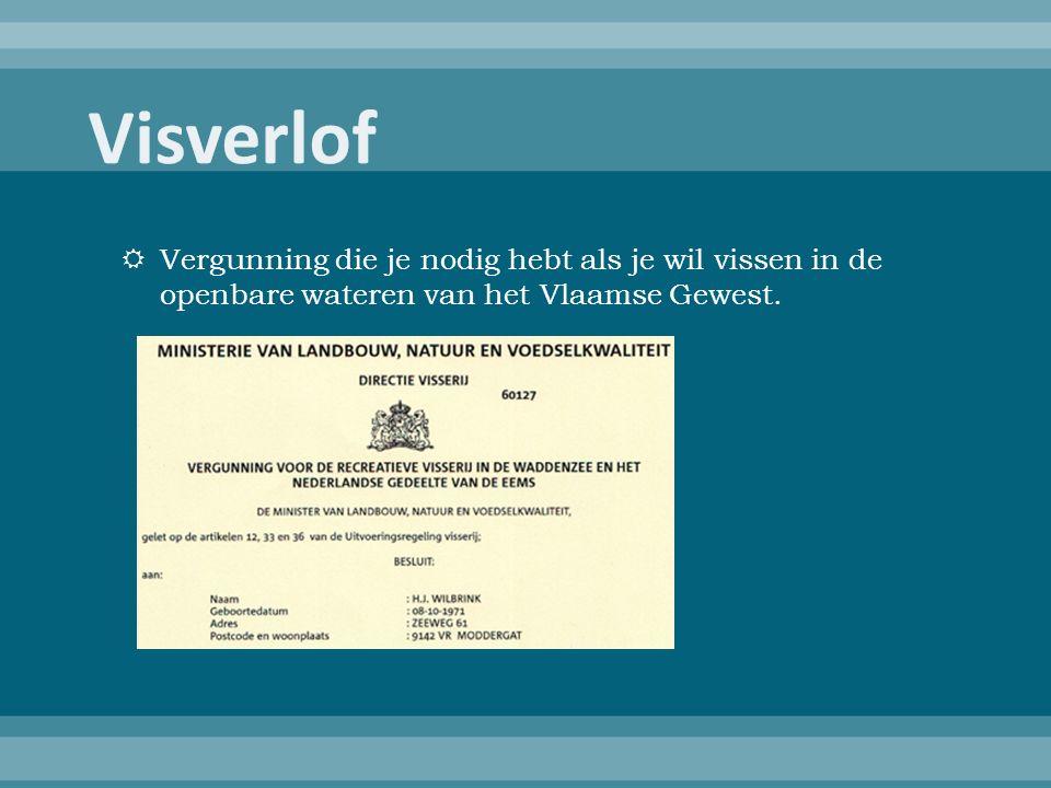  Vergunning die je nodig hebt als je wil vissen in de openbare wateren van het Vlaamse Gewest.