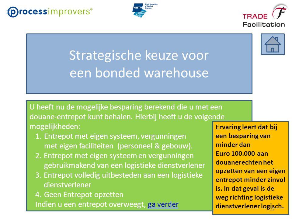 Strategische keuze voor een bonded warehouse U heeft nu de mogelijke besparing berekend die u met een douane-entrepot kunt behalen.