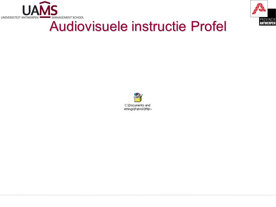 Audiovisuele instructie Profel