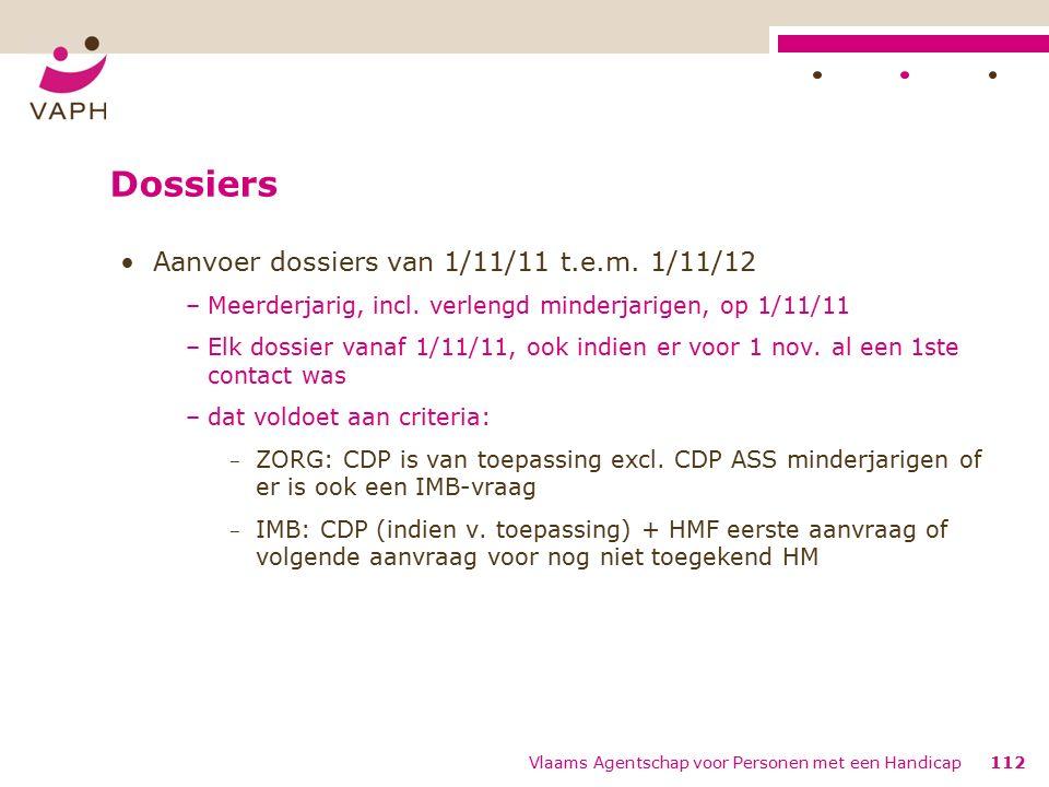 Dossiers Aanvoer dossiers van 1/11/11 t.e.m. 1/11/12 –Meerderjarig, incl.