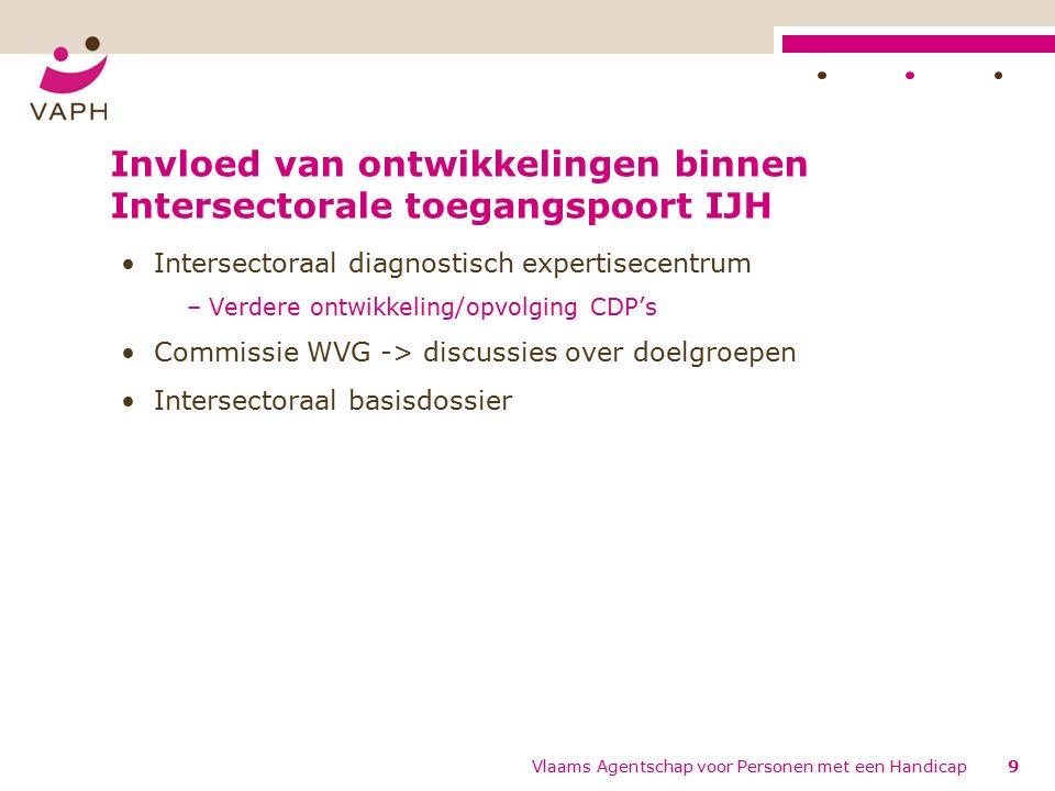 Classificerende Diagnostische Protocollen (CDP's) Greet Callens 30 Vlaams Agentschap voor Personen met een Handicap