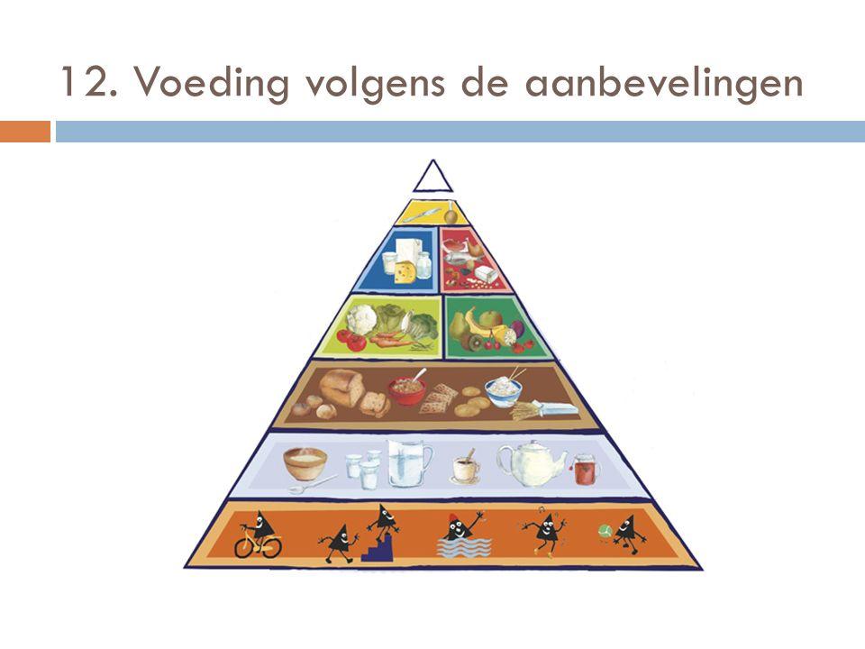 12. Voeding volgens de aanbevelingen
