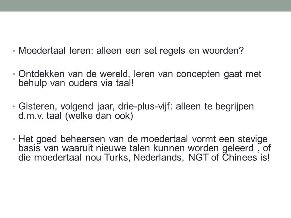 VVTO en anderstalige kinderen Anderstalig: L1 van Fries tot Berber en Tigrinya, en van Spaans tot Limburgs.