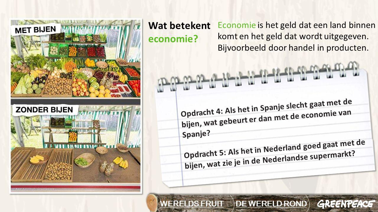 WERELDS FRUIT DE WERELD RONDDE WERELD ROND Economie is het geld dat een land binnen komt en het geld dat wordt uitgegeven. Bijvoorbeeld door handel in