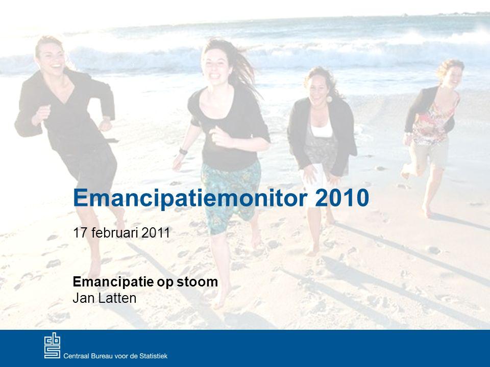 Emancipatiemonitor 2010 17 februari 2011 Emancipatie op stoom Jan Latten