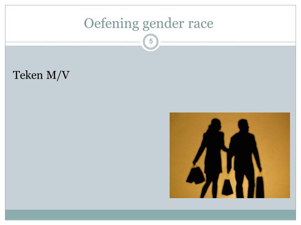 Oefening gender race Teken M/V 5