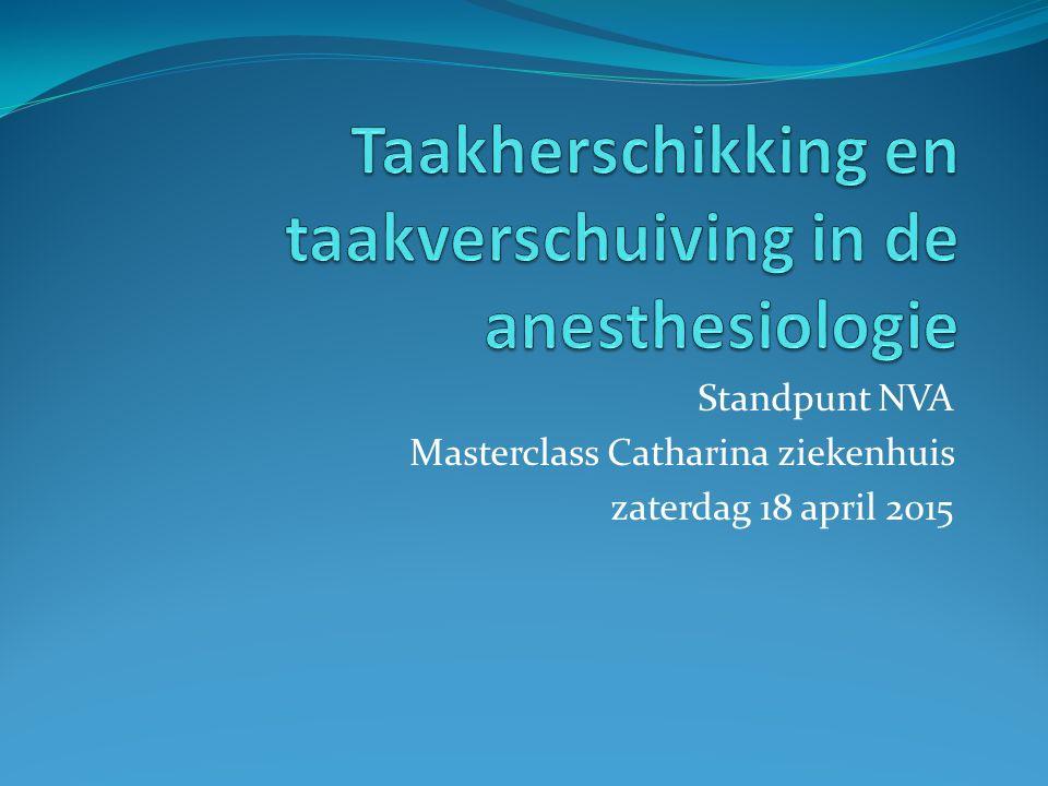 Standpunt NVA Masterclass Catharina ziekenhuis zaterdag 18 april 2015