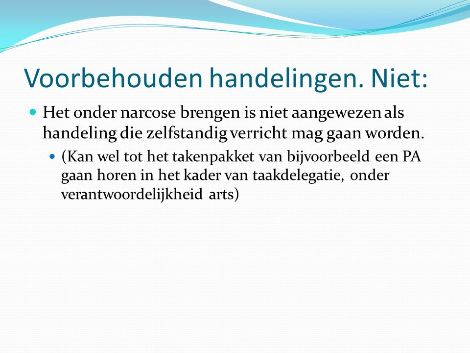 Procedurele Sedatie en/of analgesie door niet anesthesiologen