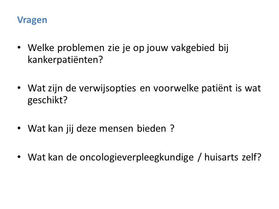 Richtlijn Oncologische Revalidatie, IKNL 2011 Richtlijn Oncologische Revalidatie