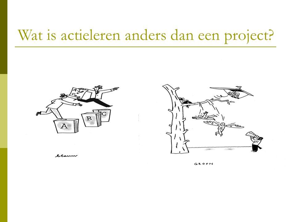Wat is actieleren anders dan een project