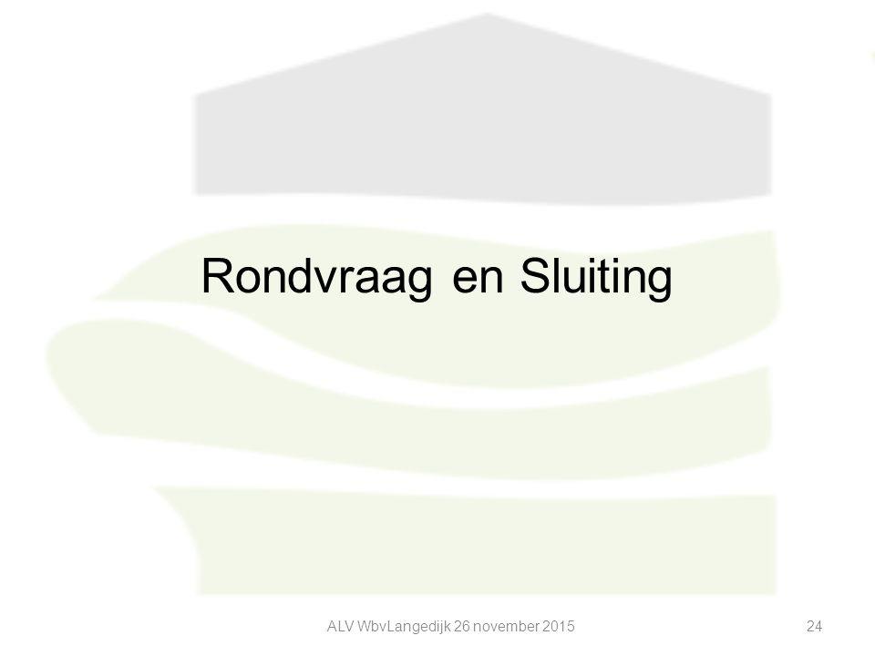 Rondvraag en Sluiting ALV WbvLangedijk 26 november 201524