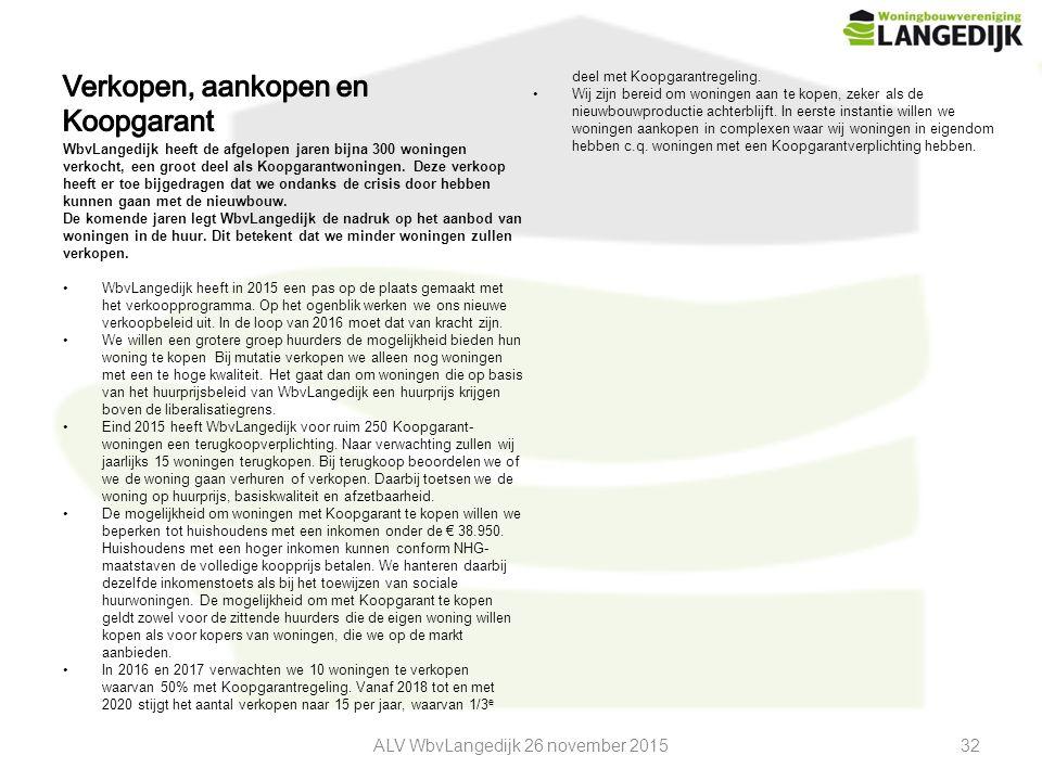 ALV WbvLangedijk 26 november 201532