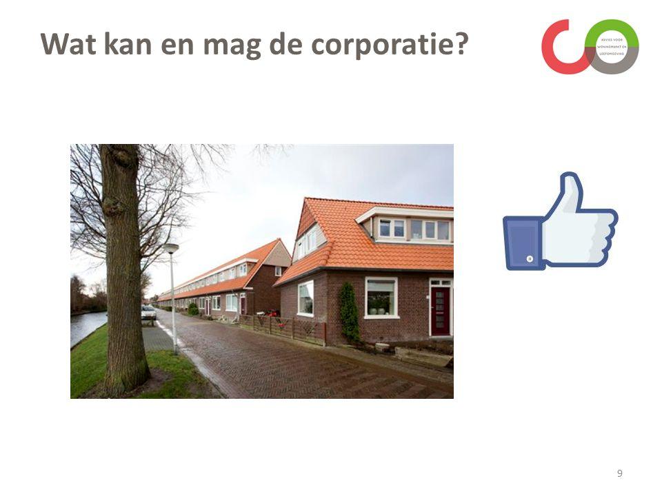 Wat kan en mag de corporatie 9