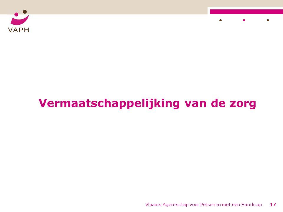 Vermaatschappelijking van de zorg Vlaams Agentschap voor Personen met een Handicap17