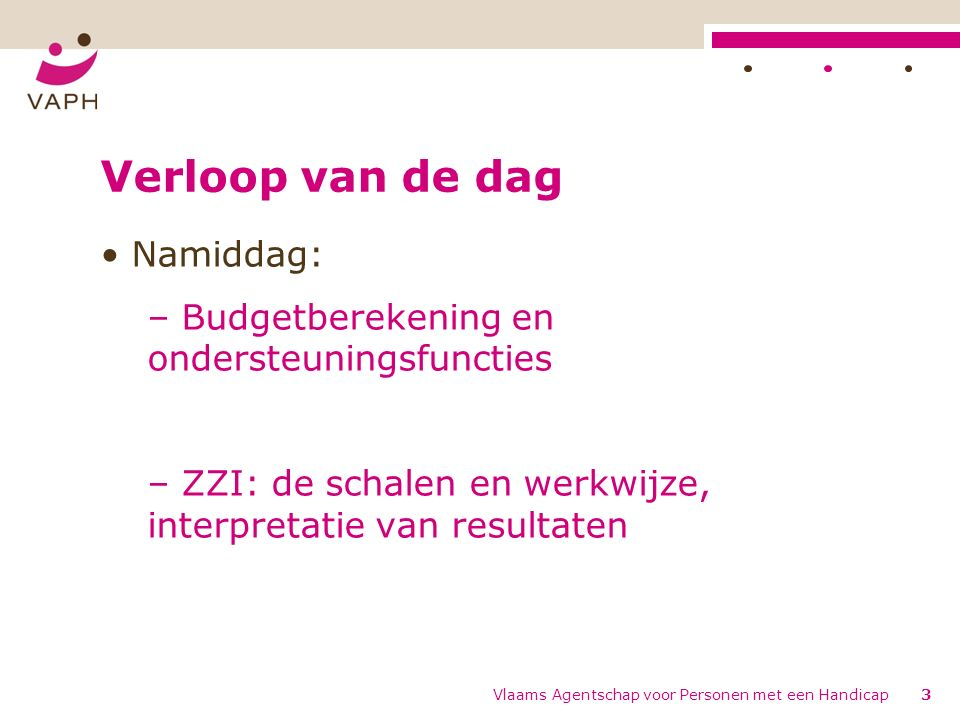 De kritieke periodes Vlaams Agentschap voor Personen met een Handicap64
