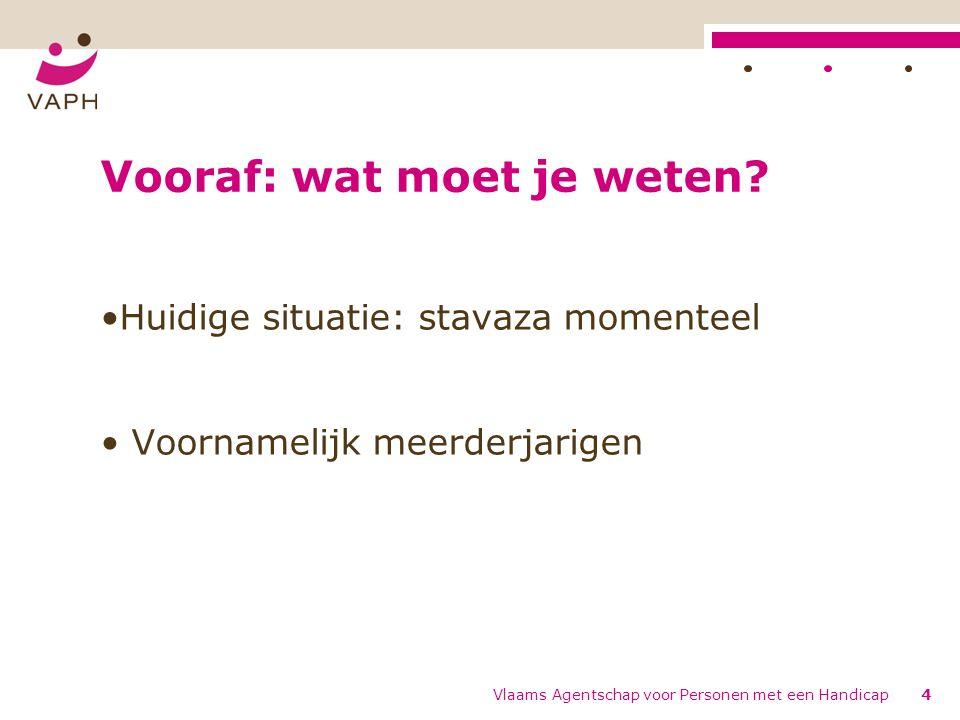 Implementatie PVF trap 2 meerderjarigen: de timing Vlaams Agentschap voor Personen met een Handicap45