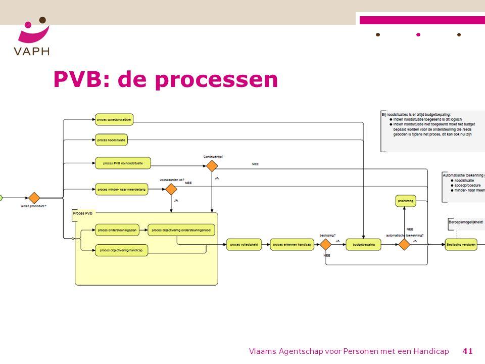 PVB: de processen Vlaams Agentschap voor Personen met een Handicap41 Birdview KO1