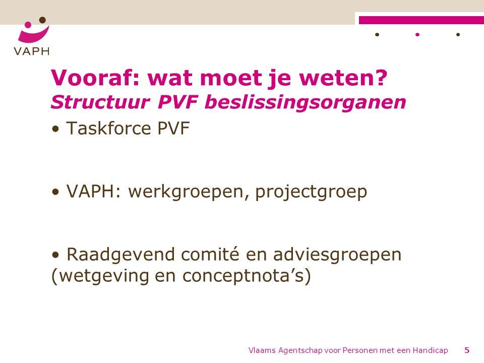 01/01/16 – 31/12/16 – voorbereiden overschakeling huidige gebruikers naar PVF – voorbereiden opheffen erkende capaciteit nRTH 01/04/16 – 31/08/16: - nieuwe inschalingsprocedure is van kracht, maar regulier vrijkomende capaciteit kan nog niet persoonsvolgend ingezet worden; beperkt UB ifv realisatie VIPA-buffer, maar nog geen bestedingskader en geen vergunde aanbieders.