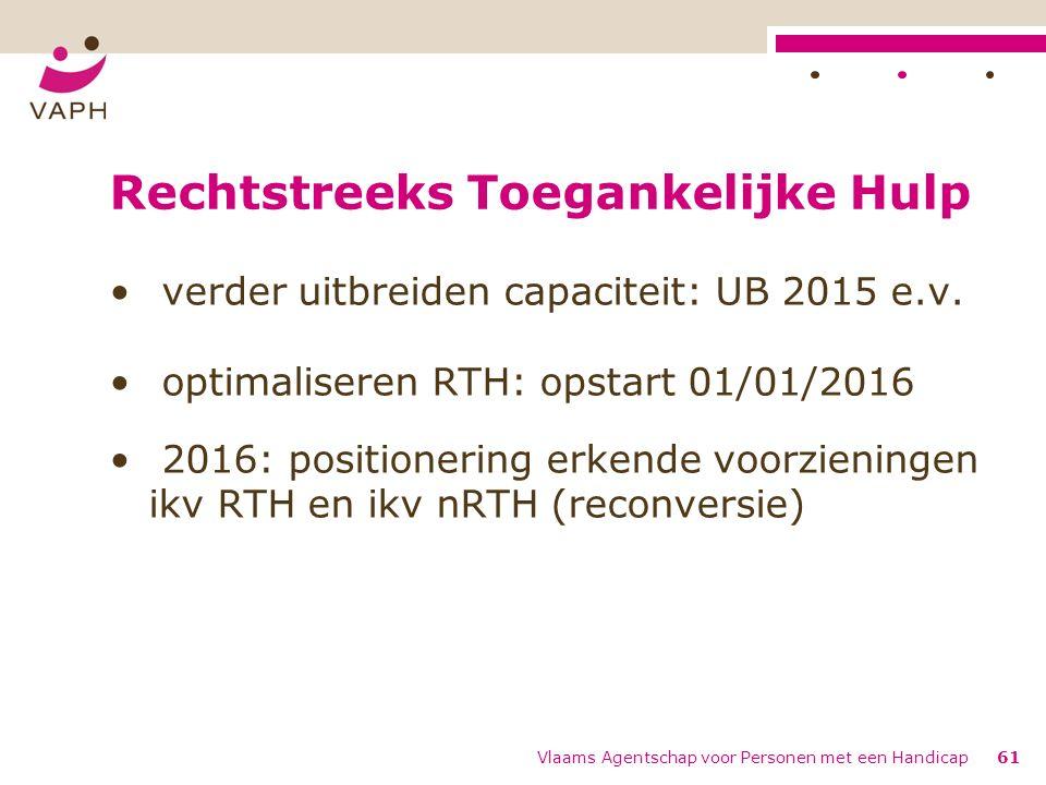 Rechtstreeks Toegankelijke Hulp verder uitbreiden capaciteit: UB 2015 e.v.