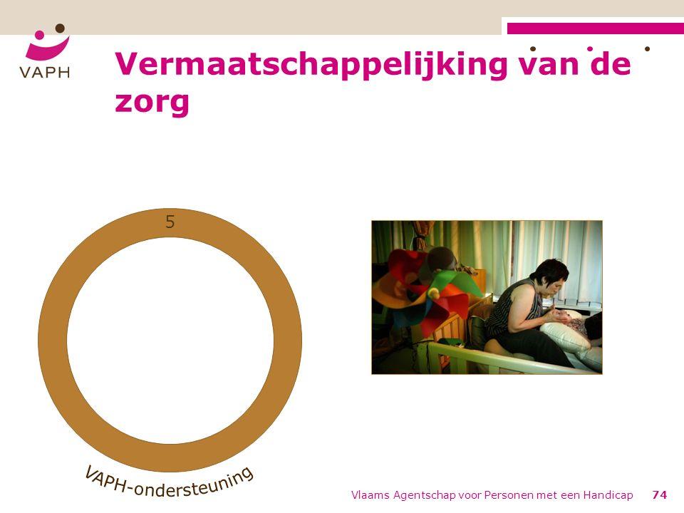 1 2 3 4 5 Vermaatschappelijking van de zorg Vlaams Agentschap voor Personen met een Handicap74