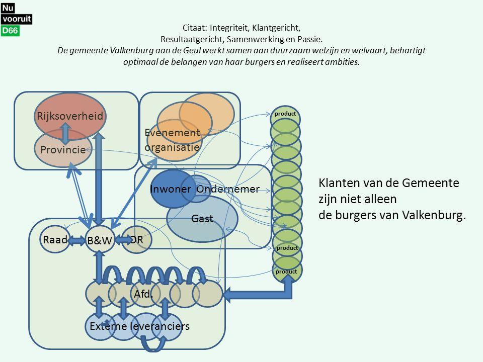 Citaat: Integriteit, Klantgericht, Resultaatgericht, Samenwerking en Passie. De gemeente Valkenburg aan de Geul werkt samen aan duurzaam welzijn en we