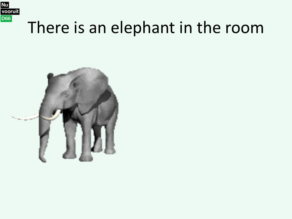 There is an elephant in the room