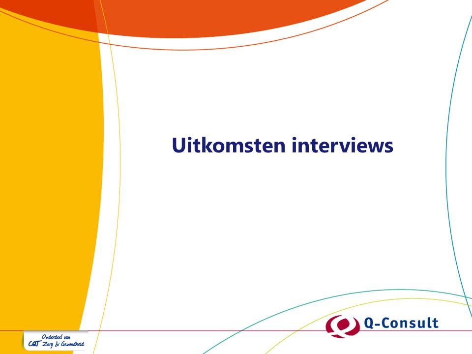 Uitkomsten interviews