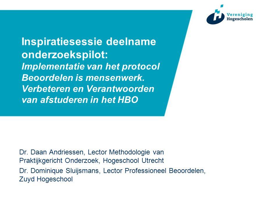 Inspiratiesessie deelname onderzoekspilot: Implementatie van het protocol Beoordelen is mensenwerk.