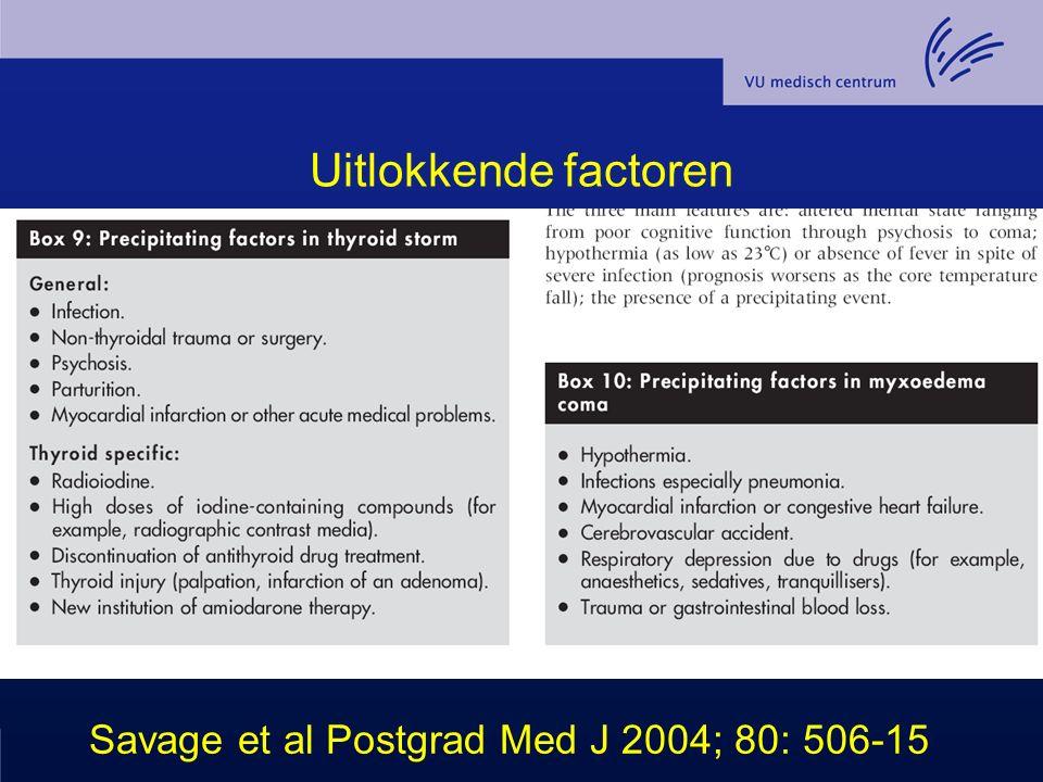 Uitlokkende factoren Savage et al Postgrad Med J 2004; 80: 506-15