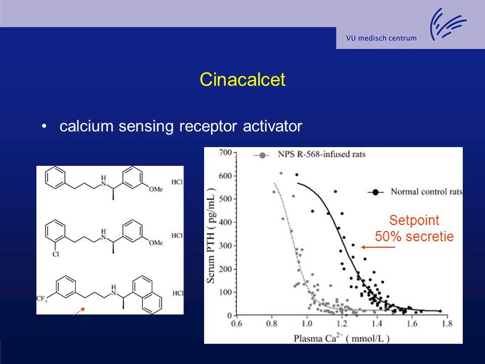 Cinacalcet calcium sensing receptor activator Setpoint 50% secretie