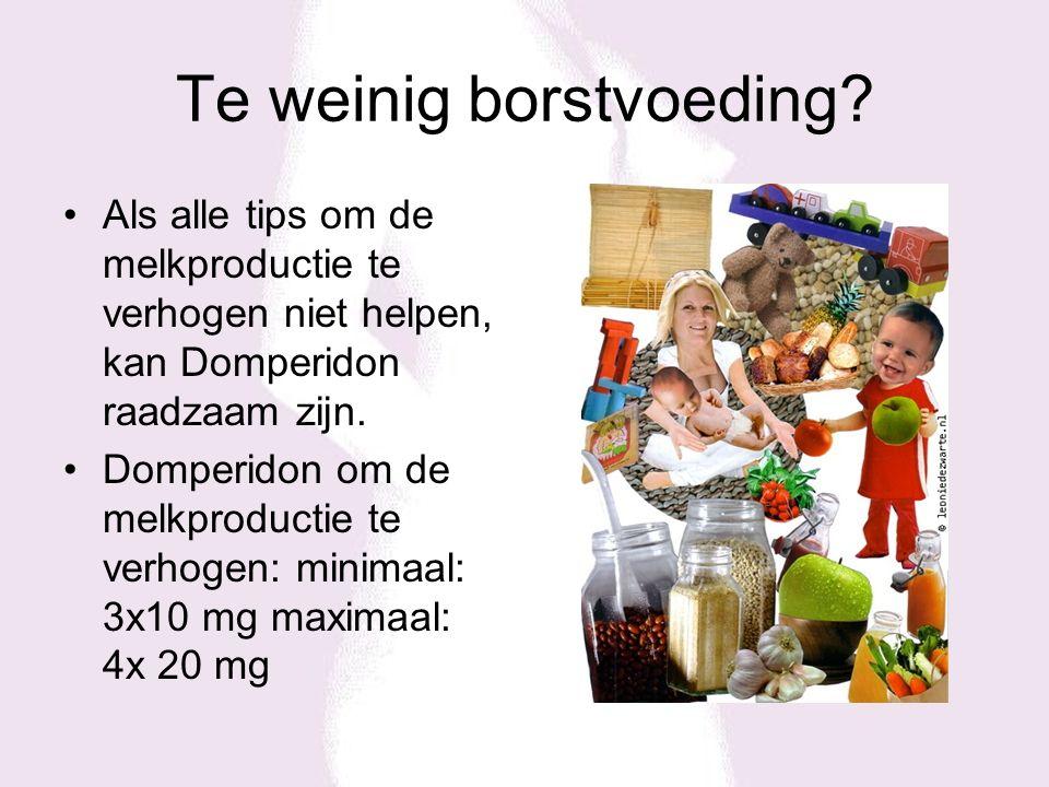 Te weinig borstvoeding? Als alle tips om de melkproductie te verhogen niet helpen, kan Domperidon raadzaam zijn. Domperidon om de melkproductie te ver