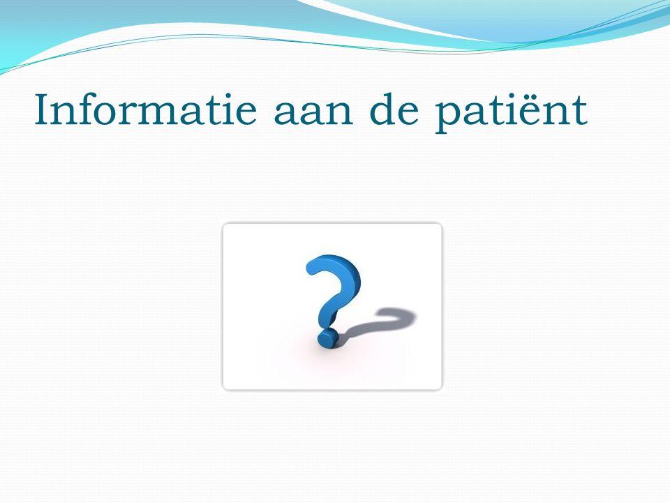 Informatie aan de patiënt