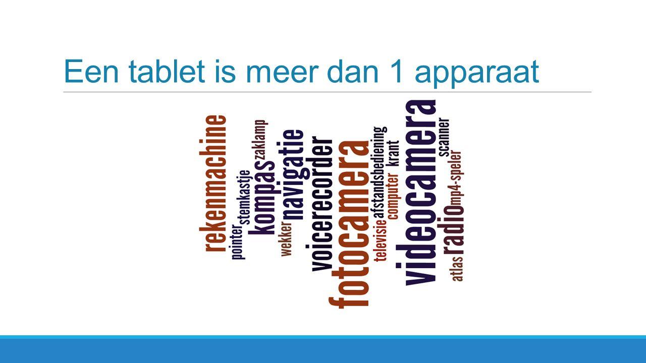 Een tablet is meer dan 1 apparaat