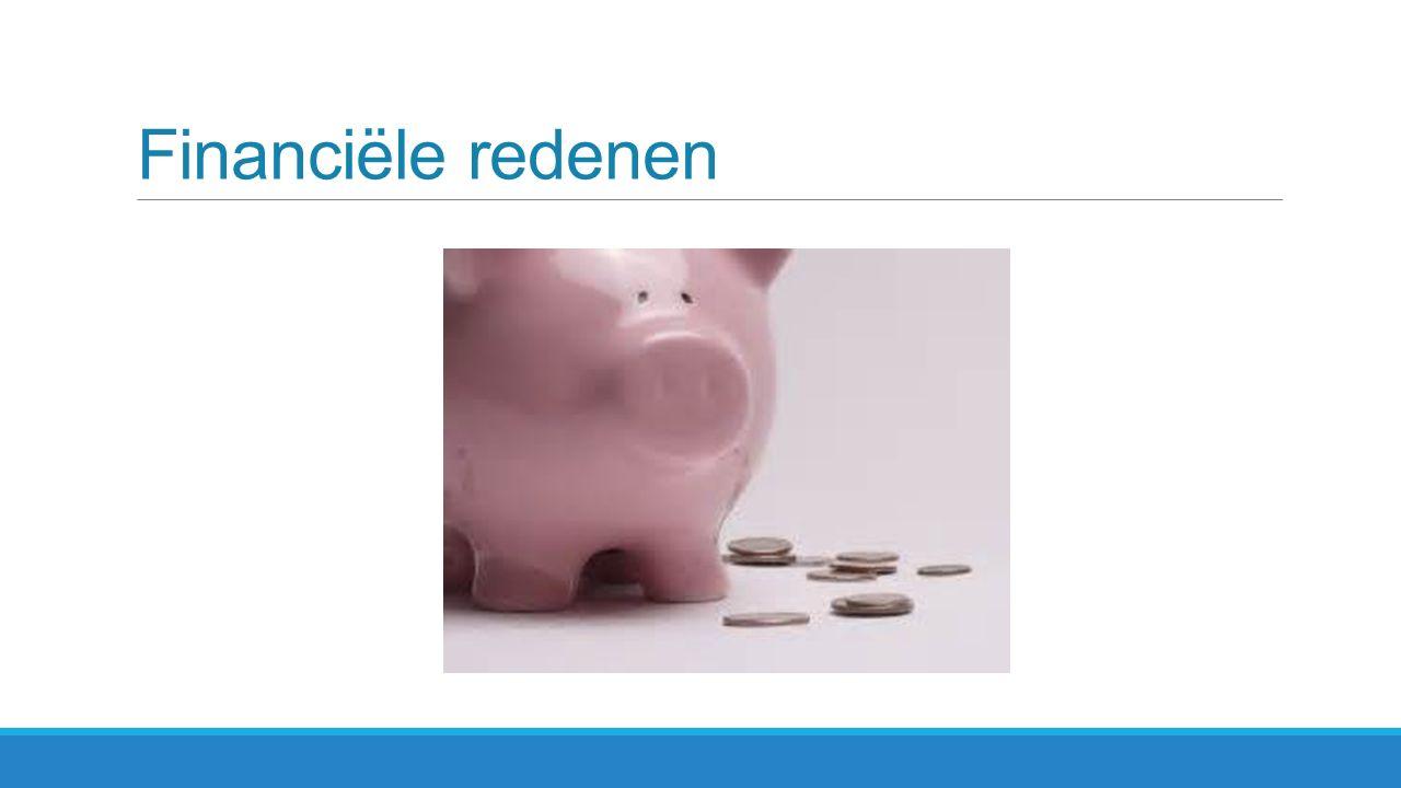 Financiële redenen
