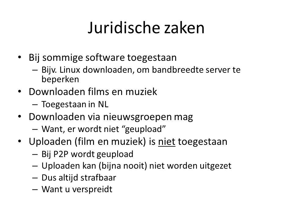 Juridische zaken Bij sommige software toegestaan – Bijv.