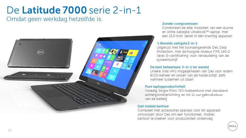 12 De Latitude 7000 serie 2-in-1 Omdat geen werkdag hetzelfde is.